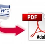 Как сохранить документ Word в формат PDF