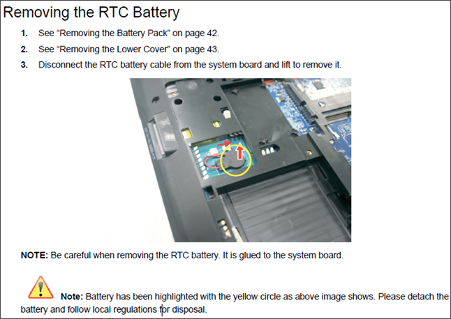 Сброс настроек биос путем вытаскивания батарейки