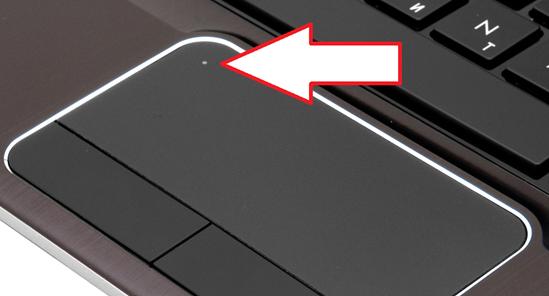 Сенсорная кнопка для включения тачпада