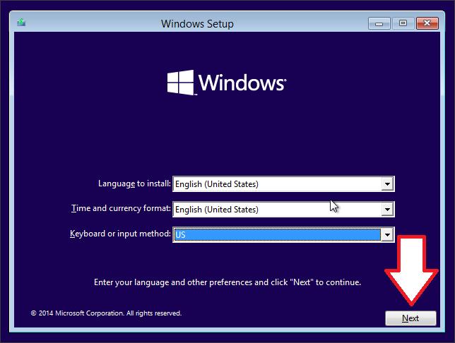 Как установить Windows 10 скрин 1