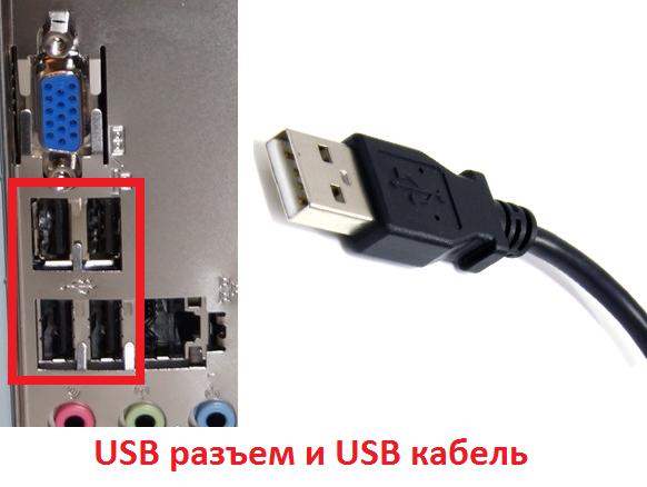 USB разъем и USB кабель от веб-камеры