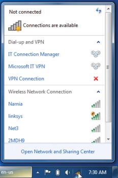 Доступные wi-fi точки доступа