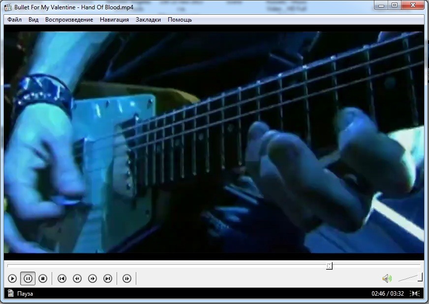 Media Player Classic воспроизводит видео клип