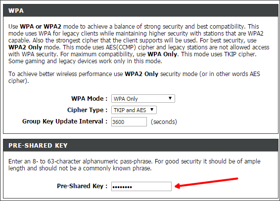 Меняем пароль на Wi-Fi на роутере D-Link