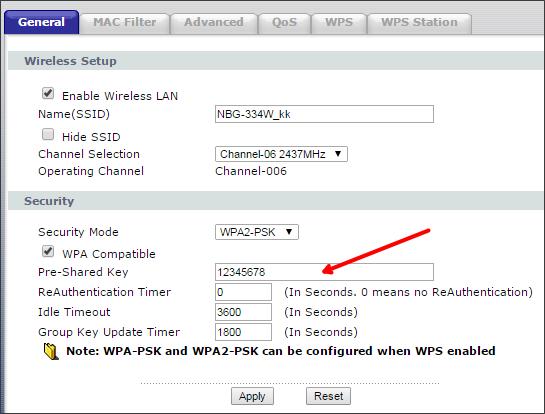 Роутер ZyXEL - как изменить пароль на Wi-Fi