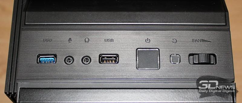 USB порты впереди корпуса