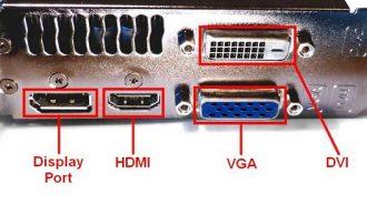 Виды разъемов видеокарт компьютера