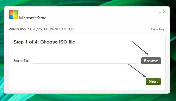 Выбираем ISO файл
