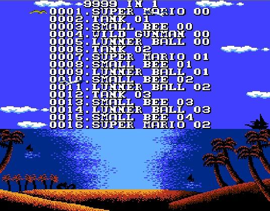 Многоигровка на денди с Марио