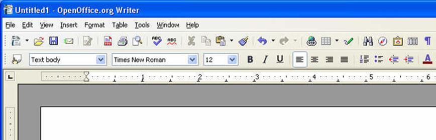Открытие файла docx в OpenOffice Writer
