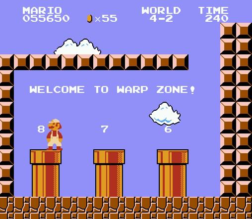 Секретное место выбора мира в Супер Марио