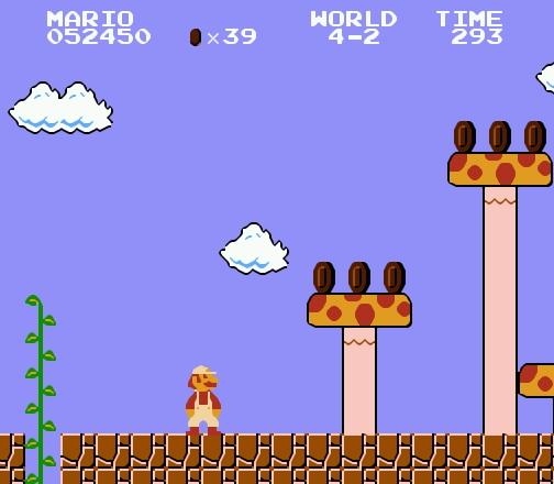 Секретный грибной уровень в Марио на денди