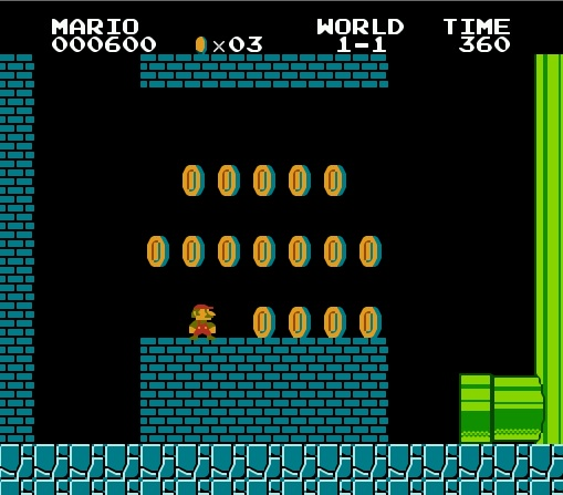 Супер Марио в трубе