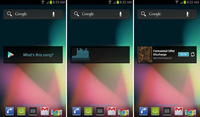 Найти песню по звуку в Google Play Music
