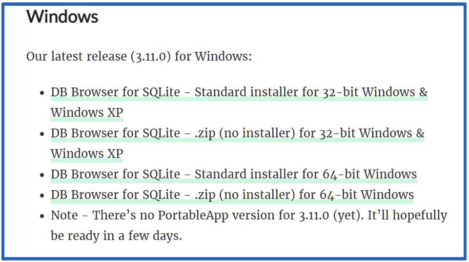 Сайт с DB Browser for SQLite