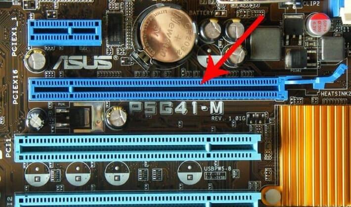 PCI Express разъем для видеокарты