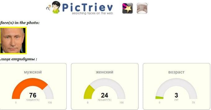 PicTriev - онлайн сервис для поиска человека по фото
